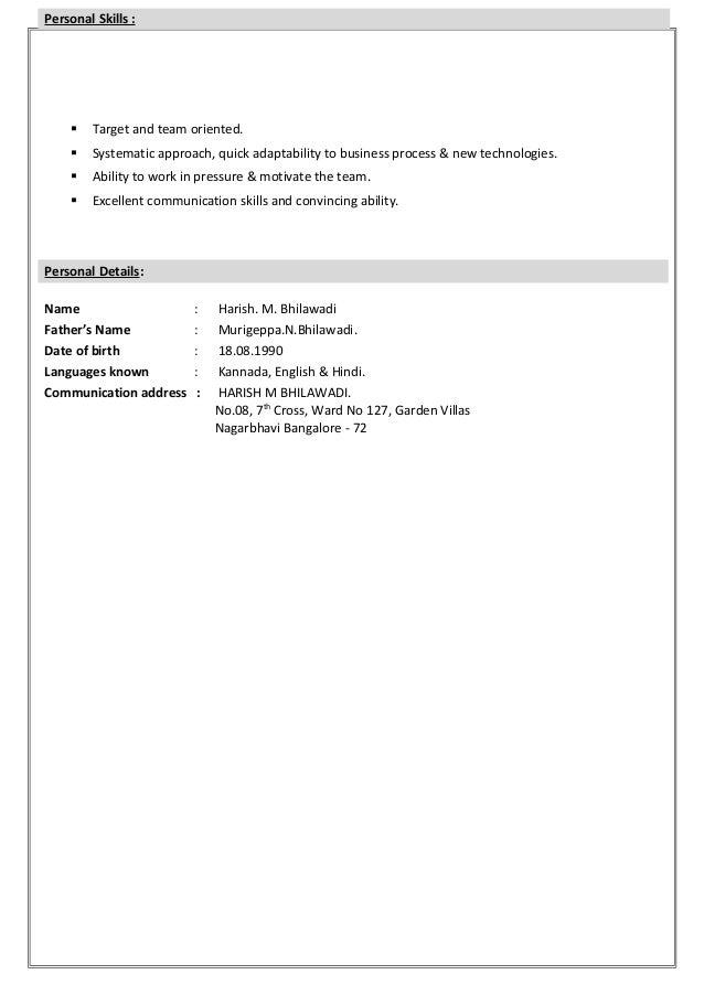 Hari_New Resume Slide 3