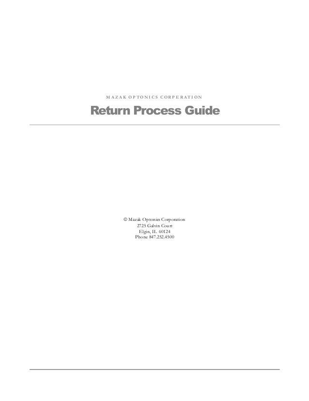 sop of return process