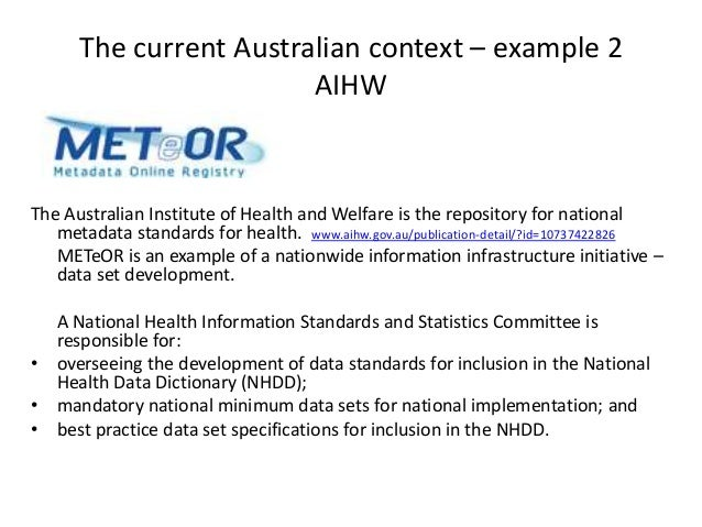 australian national health data dictionary