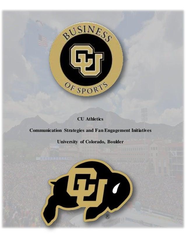 University Of Colorado Athletics >> Cu Athletics Final Copy 2