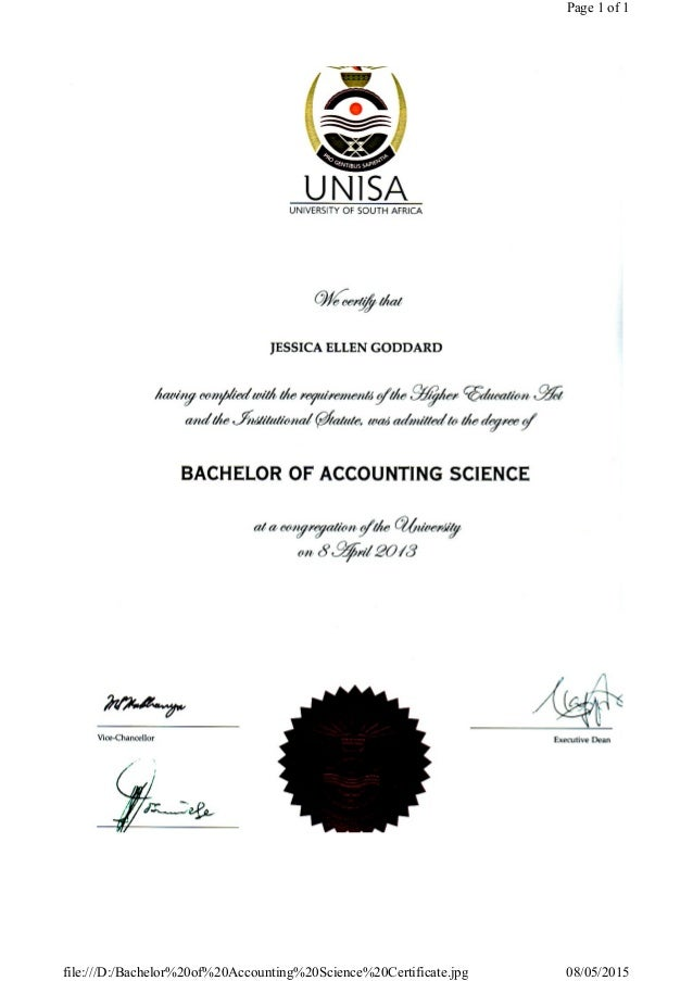 Bachelor of Accounting Science