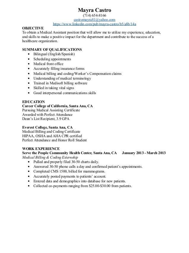 mayra castro resume