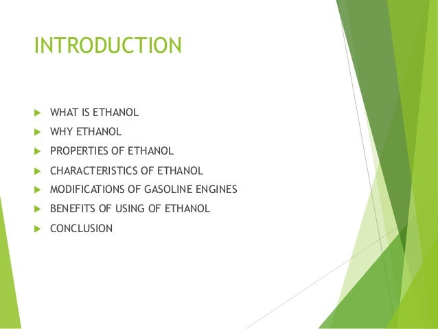 What Is Ethanol >> Modification In Gasoline Engines For Use Of Ethanol