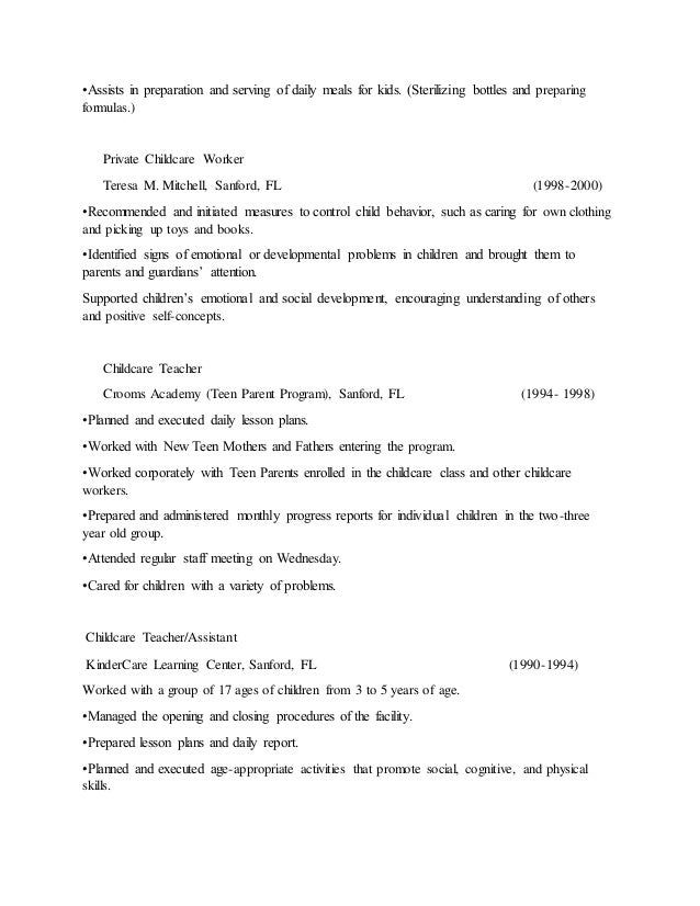 Teresa Mitchell Flight Attendant Resume