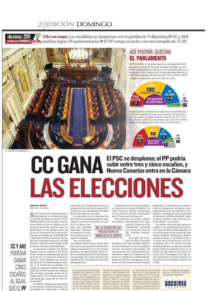 2 EDICIÓN DOMINGO  elecciones 2011                           Cita en mayo. Los socialistas se desploman con la pérdida de ...