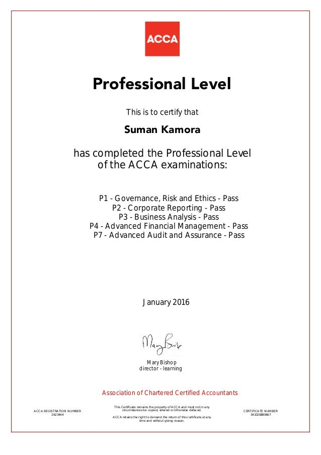 professional stage certificate 2623444