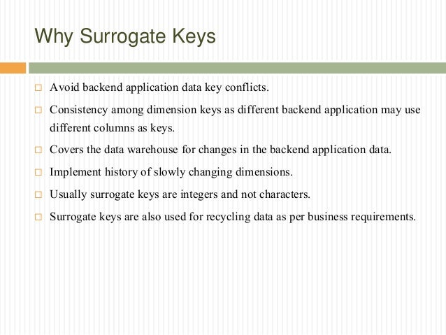 Surrogate Key Vs Natural Key When To Use