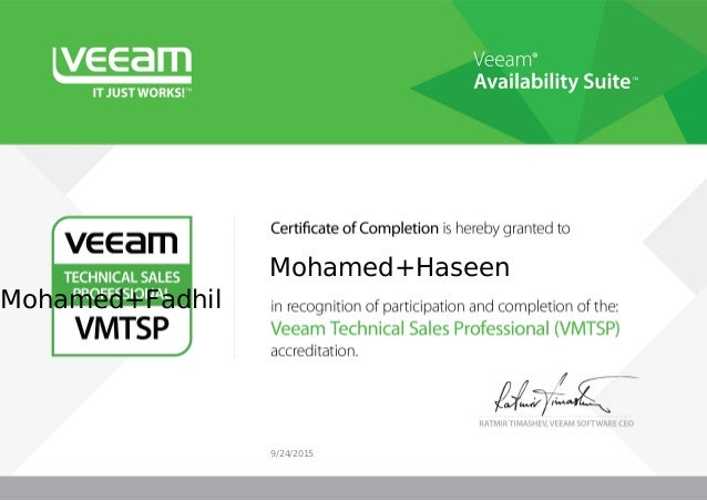 Veeam Availability Suite VMTSP