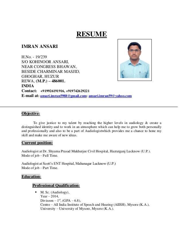 RESUME Imran Ansari