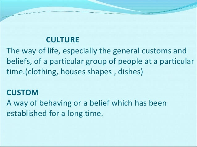 BELIEFS The feeling of being certain that something exists or is true belief, principle or way of acting which people in a...