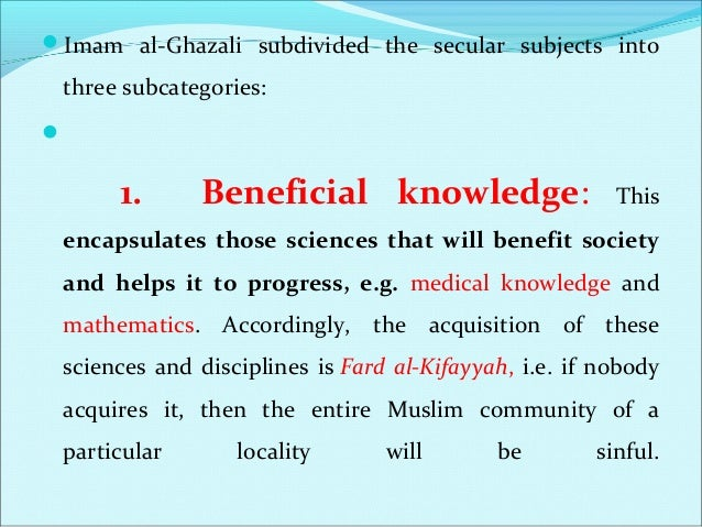 2. Neutral Knowledge: This category encapsulates those disciplines that will not really enhance one's beneficial knowled...