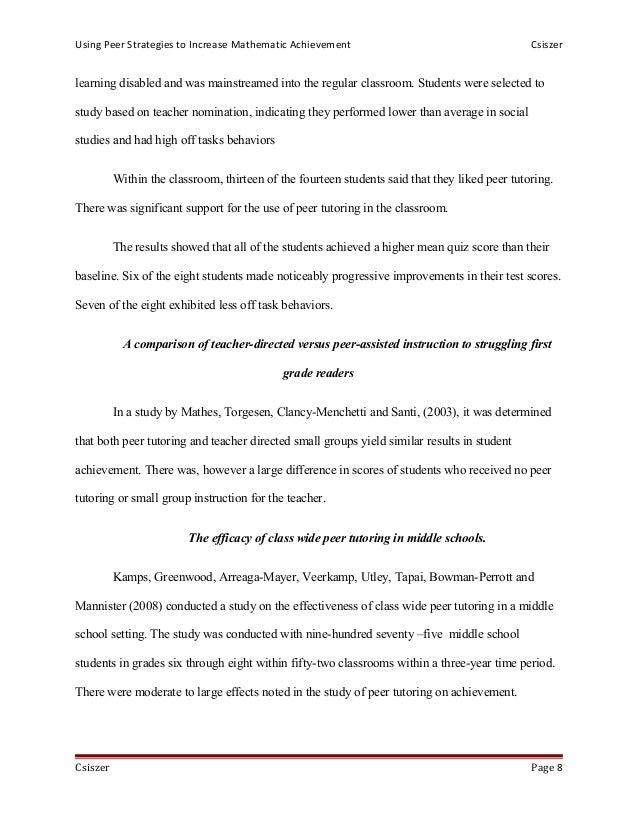 thesis on classwide peer tutoring