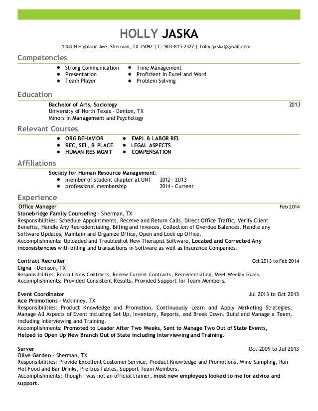 Holly Jaska Resume