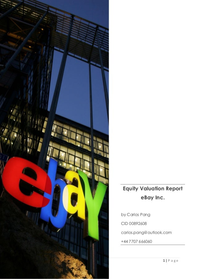 Equity Valuation Report on eBay Inc
