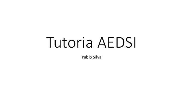 Tutoria AEDSI Pablo Silva