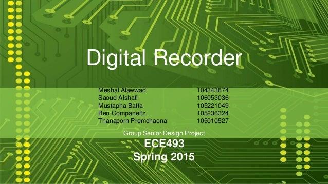 digital recorder presentation draft 1
