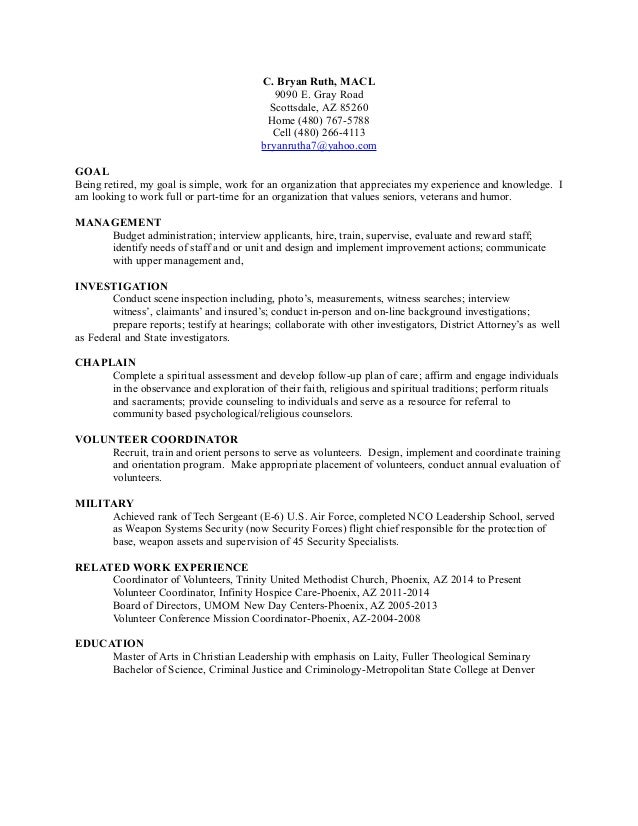 transitional resume