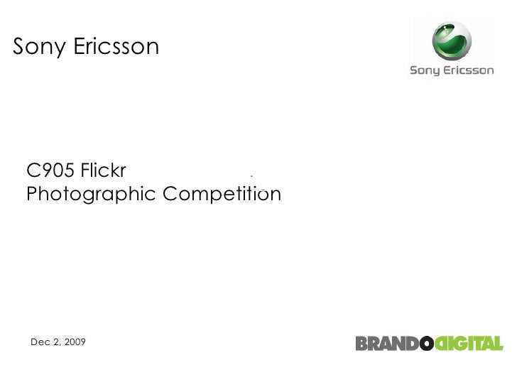 Sony Ericsson  C905 Flickr  Photographic Competition