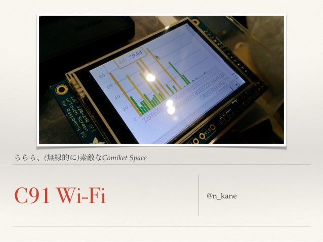 C91 Wi-Fi: ららら、(無線的に)素敵なComiket Space