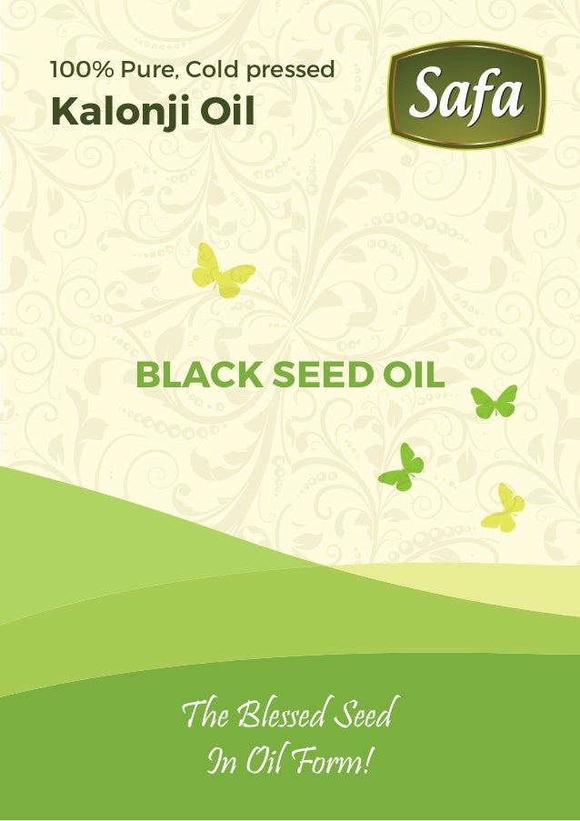 The Blessed Seed In Oil Form! BLACK SEED OIL 100% Pure, Cold pressed Kalonji Oil