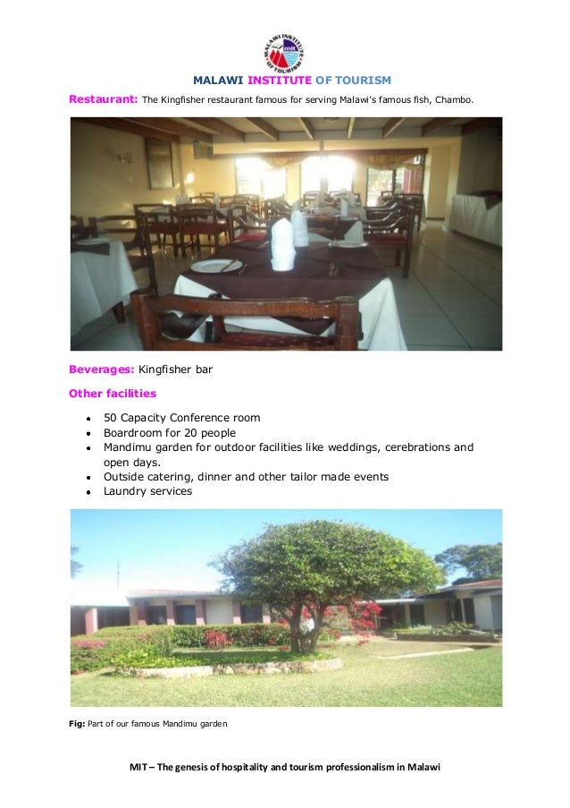 MALAWI INSTITUTE OF TOURISM HOTELS - INTRODUCTORY LETTER
