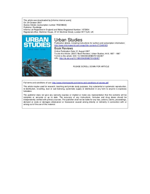 This article was downloaded by:[informa internal users] On: 29 October 2007 Access Details: [subscription number 755239602...
