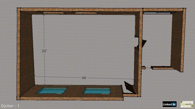 3d floor plan of corporate mess for Sideboard x7