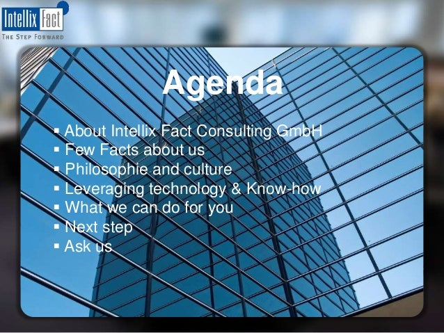 Intellix Fact Consulting® GmbH Professional services full-2-GO