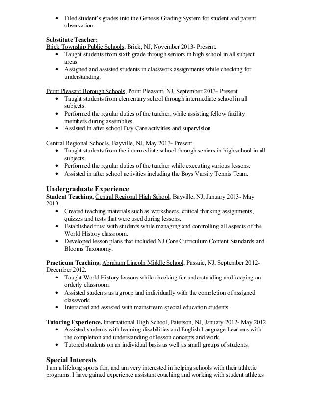 Resume Worksheet For High School Students - Vosvete.net