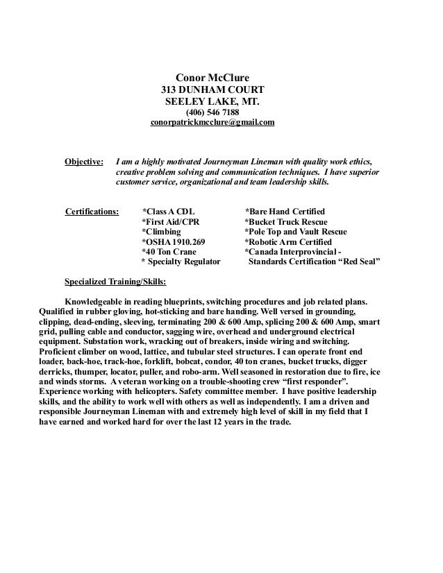 conor mcclure resume 2011