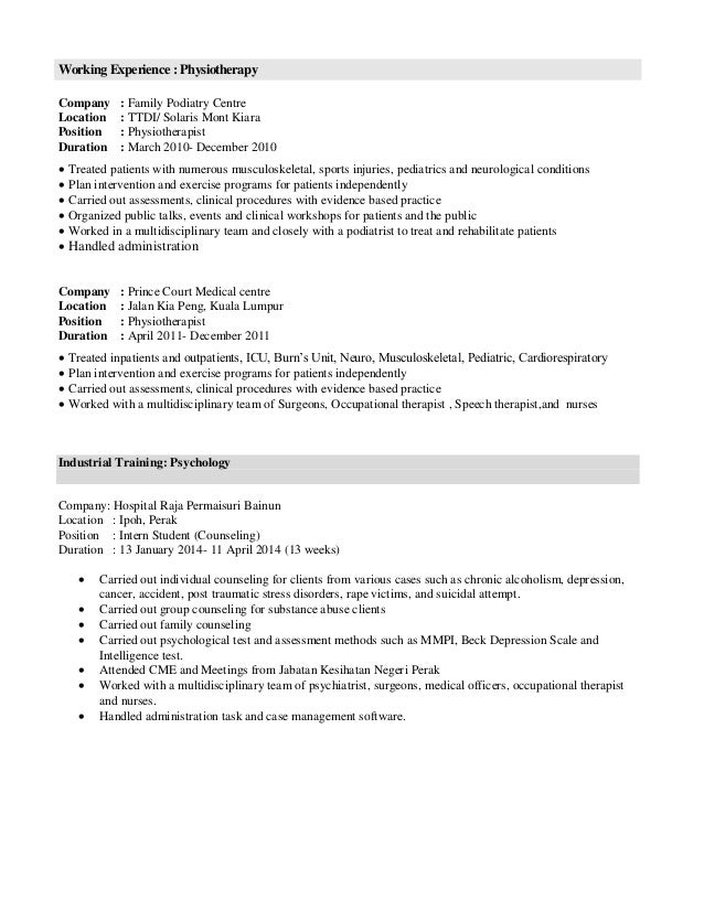 Personal Particulars-resume