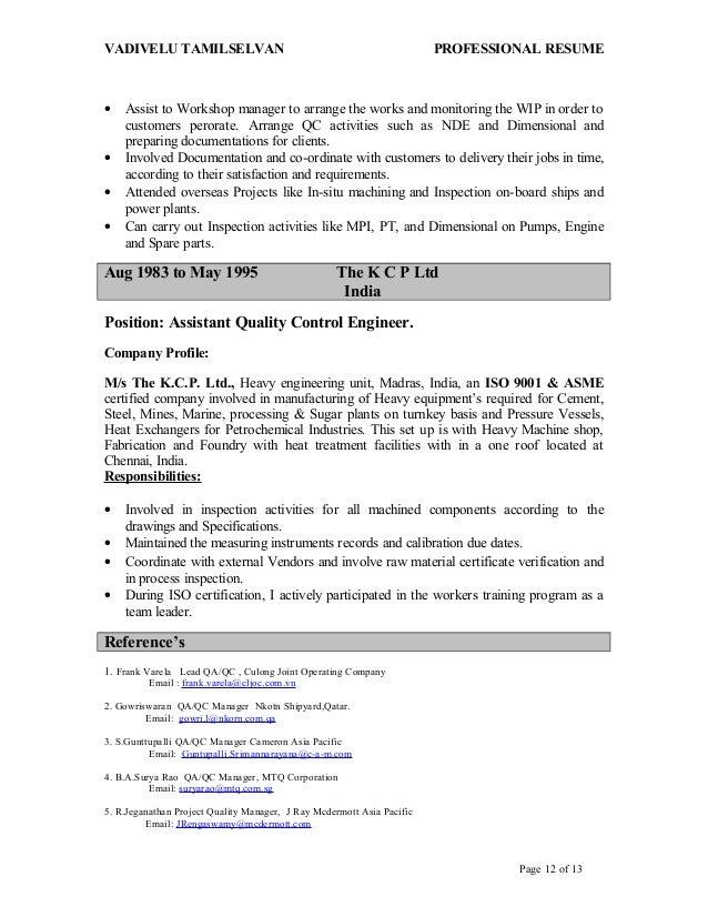 tamil updated resume