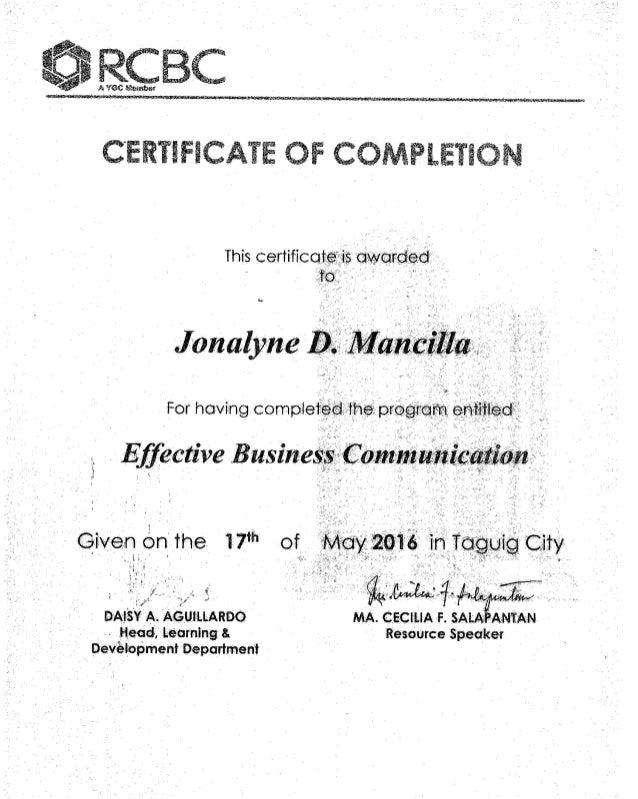 Effective Business Communication Certification