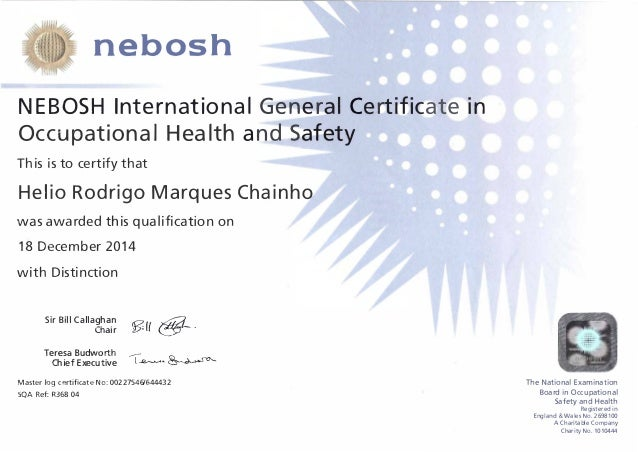 nebosh igc 3 It was an awesome time from induction to exam, the director during the induction took time to explain what nebosh igc really means which broaden my horizon of what the course is all about the trainer has a good grasp of the course but the learning studio was small.