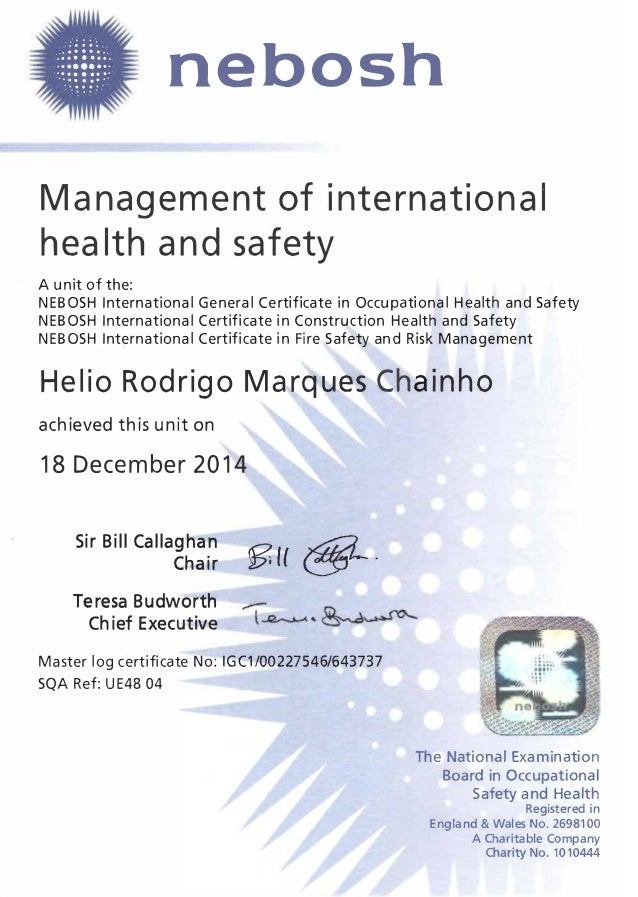 nebosh igc 1 The safety culture of an organization is the way that all the people within the organization think and feel about health and safety and how this translates into behavior.