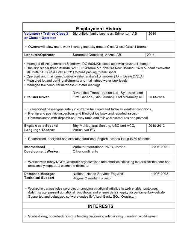 order of employment history on resume