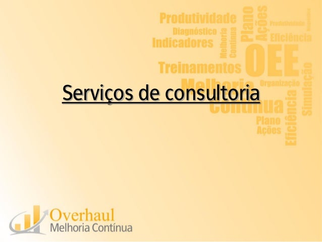 Serviços de consultoria