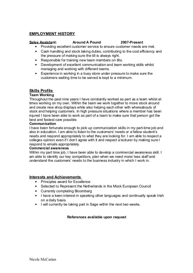 Student cv template yelopaper Images