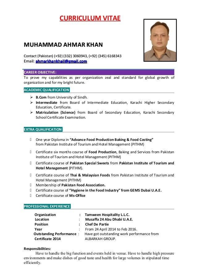 AHMAR\'S CV.