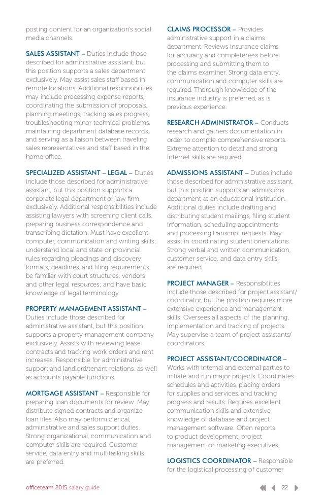 OfficeTeam 2015 Salary Guide