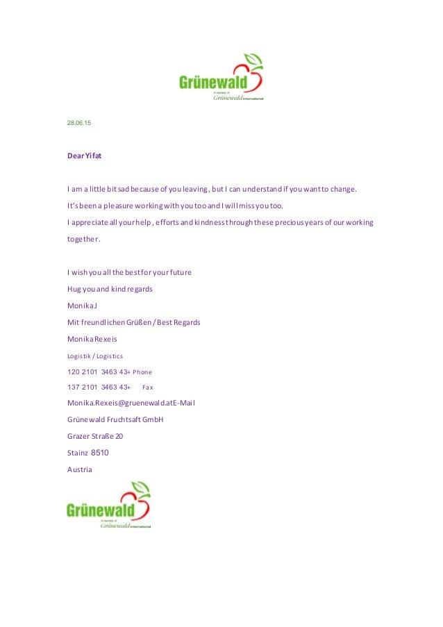 A farewell letter from supplierGrunewaldgif