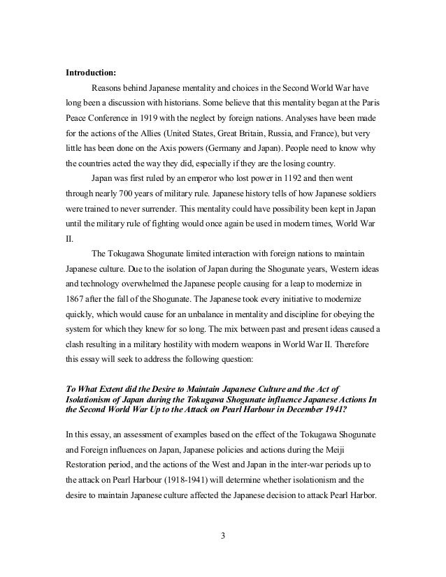 English Essay Introduction Example   Introduction Reasons Behind Japanese  Compare And Contrast Essay Papers also Good Essay Topics For High School Extended Essay Example Essay Thesis Statement