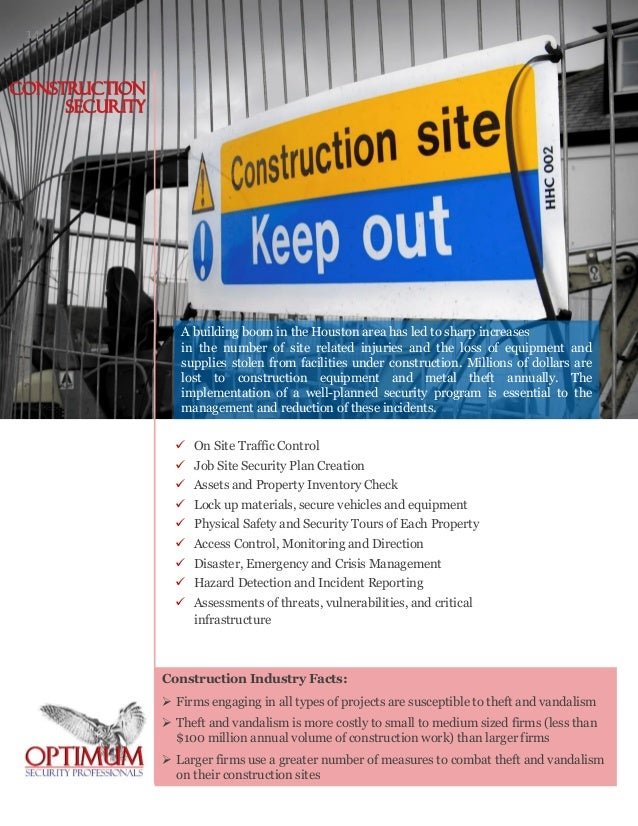 OSP Company Profile – Site Security Plan For Construction Project