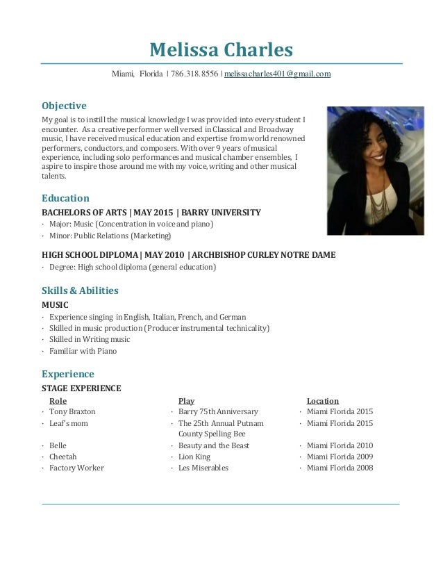 cover letter sample musical theatre resume sample musical theatre