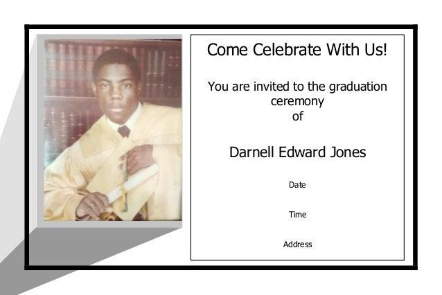 graduation announcement 4 x 6
