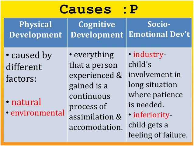 physical and cognitive development