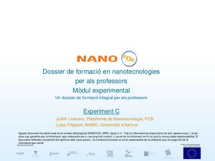 Dossier de formació en nanotecnologies                               per als professors                              Mòdul...