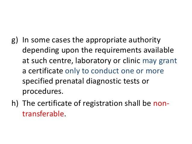 Preconception And Prenatal Diagnostic Techniques Act 1994 Epub