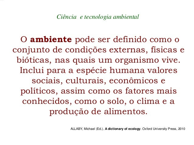 Ciência Ambiental e Interdisciplinaridade - Fundamentos Slide 2