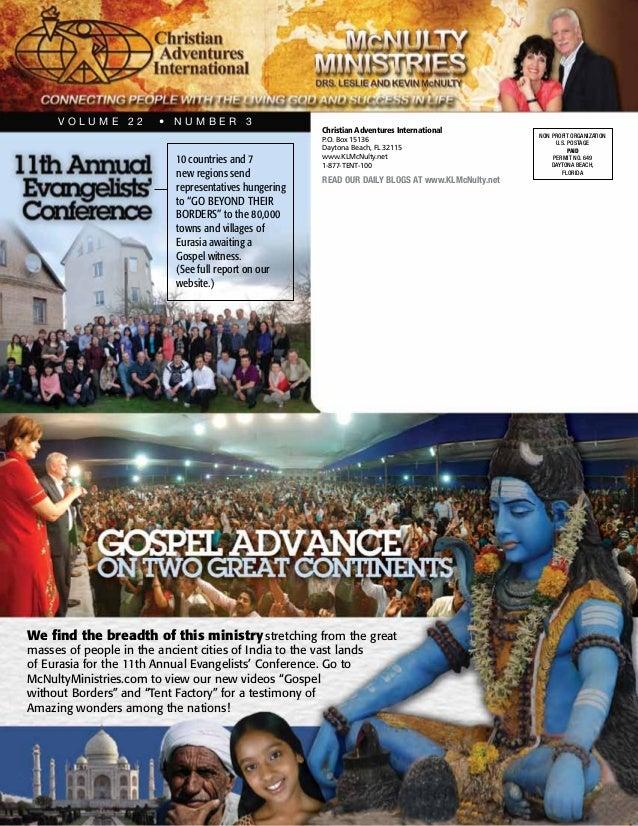VOLUME 22         • NUMBER 3                                                      Christian Adventures International      ...